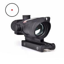 ACOG Style Fiber Optic Sight 1x32 Scope Airsoft Rifle Red Rifle Scopes