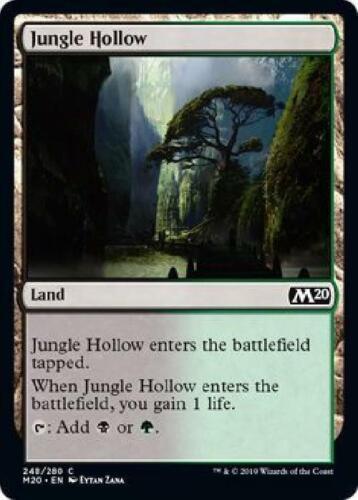 8x Jungle Hollow 248//280 Near Mint Magic 2020 Core Set MTG M20
