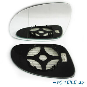 Spiegelglas-fuer-VW-PASSAT-B6-2005-2010-links-asphaerisch-beheizbar-elektrisch