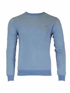 GANT-Pacific-Blue-Men-039-s-Sporty-Cotton-Pique-Crew-81335-NWT