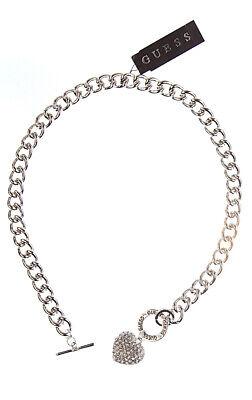 Guess Schmuck Damen Kette Halskette Herz Silber Strass | eBay