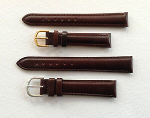 DARK-BROWN-PADDED-LEATHER-WATCH-STRAP-8MM-TO-20MM-GP-OR-SS-BUCKLE-UK-SELLER