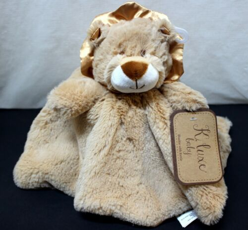 K Luxe Baby Kelly Toy Lion Security Blanket w// Rattle Plush Gift