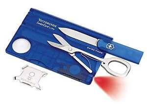 65ce20e4320 VICTORINOX Blue Swiss Card Lite w LED Torch RRP  79.95 Knife Pocket ...