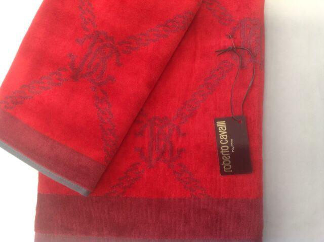 Rosso//Nero Milan 8907 020 2110 Set Asciugamano e Ospite in Spugna 100x60x1 cm 100/% Cotone