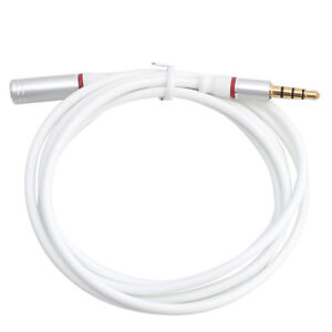 3-5mm-Mini-Jack-Male-to-Female-Stereo-Audio-Extension-Extender-Cable-Cord-WH