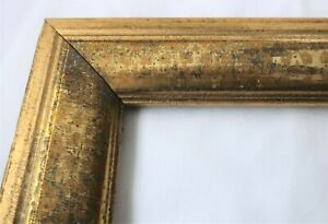 "Antique Fits 9 X 11""  Lemon Gold Gilt Picture Frame Stencil Wood Gesso Fine Art"