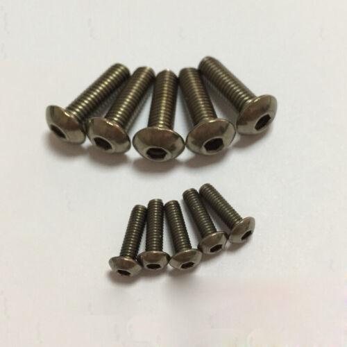 M6 titanium inner hexagon semicircular head socket screw bolts TA2 allen screws