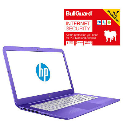 "HP Stream 14-AX002NA Laptop 14"" 4GB 32GB SSD With BullGuard Internet Security"
