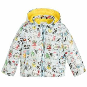 306159923f7a Image is loading FENDI-BABY-BLUE-MONSTER-SPACE-PRINT-PADDED-JACKET-