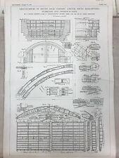 Smith's Graving Docks On South Bank On Tees: 1908 Engineering Magazine Print
