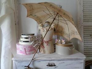 antiker gro er sonnenschirm frankreich um 1900 shabby chic ebay. Black Bedroom Furniture Sets. Home Design Ideas