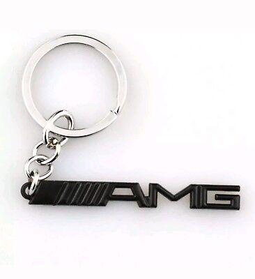 Branded Automotive Merchandise Flight Tracker Amg Keyring Keychain Mercedes Merc Matt Black Uk Seller Good Heat Preservation