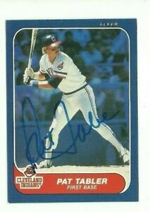 Pat Tabler 1986 Fleer signed auto autographed card Indians