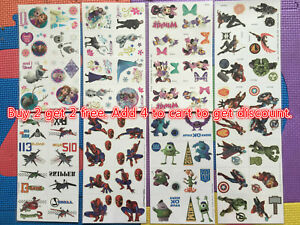 Cartoon-Waterproof-Body-Temporary-Tattoos-Stickers-for-kids-Removable-US-Seller