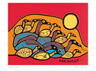 Flock of Loons Norval Morrisseau Art Card Ojibway Native