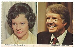 PRESIDENT-and-MRS-JIMMY-CARTER-39th-US-American-United-States-Postcard