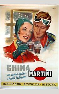TARGA-VINTAGE-034-CHINA-MARTINI-034-PUBBLICITA-039-LIQUOR-ADVERTISING-POSTER-PUB-PLATE