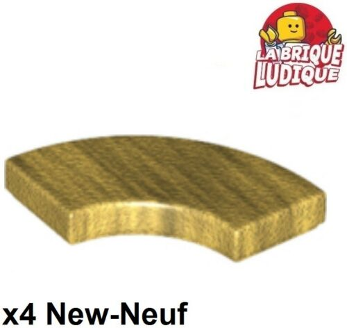Lego 4x Tile Round plaque lisse corner macaroni 2x2 or//pearl gold 27925 NEUF