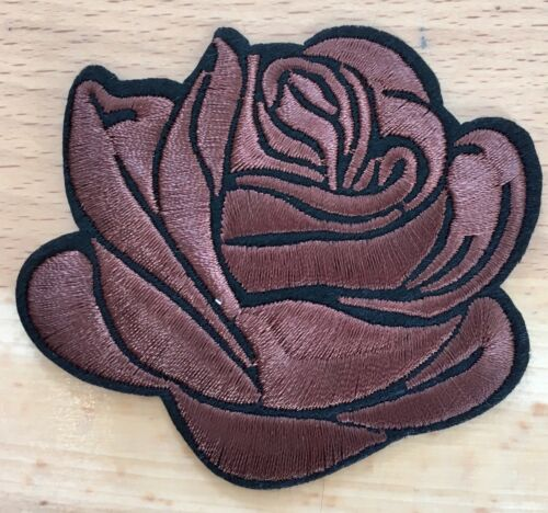 Aufbügler Bügelbild Rose patch Blumen Applikation flower Edler Rosen Aufnäher