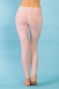 8271747a532b20 Teeki Women's Yoga Pants Candy Cane Hot Pant Leggings Striped M ...