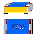 SMD-Widerstand 27 kOhm 1/% 0,063W Bauform 0402 gegurtet