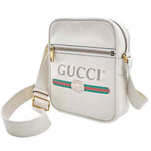 Gucci Print Messenger Bag in White 523591 0QRAT 8820