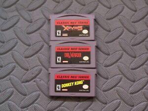 Lot Nintendo Game Boy Advance GBA Games Classic NES Series: Xevious Dr Mario DK