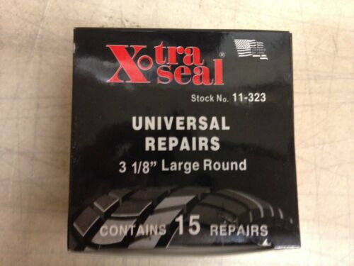 """Group 31 Xtra Seal Universal Tire Repairs 11-323 Box of 15 3-1//8/"""" Large Round"""