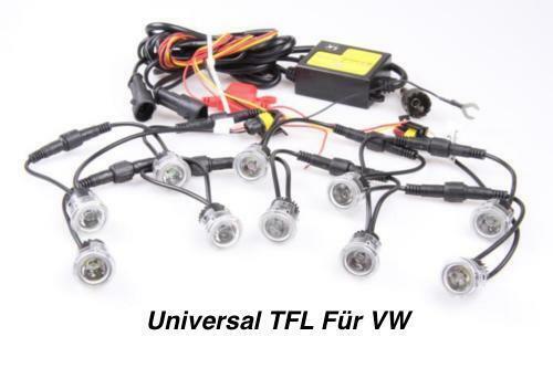 TOP LED Tagfahrlicht 6000K 12V DRL TFL Flex 10x SMD je 1 Watt Für VW
