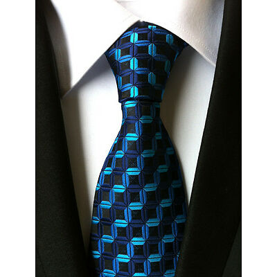 14 COLOR Classic Men's 100% Silk Tie Necktie Geometric Woven JACQUARD Neck Ties
