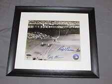 Ralph Branca & Bobby Thomson Autographed Shot Heard Around Photo Framed Steiner