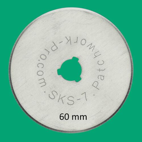 3x Ersatzklingen 60mm für Rollschneider Rollmesser Rotary Patchwork Quilt 616