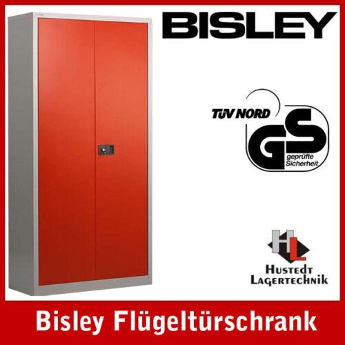 lichtgrau//rot Aktenschrank NEU! BISLEY Stahlschrank