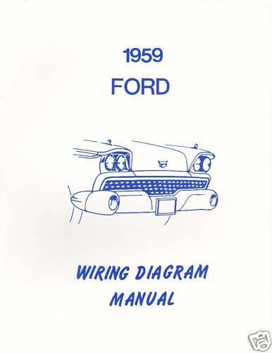 1959  FORD   WIRING DIAGRAM  MANUAL