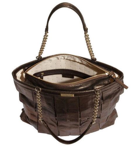 New Kate 445 Tasche Selten York Spade Schwarz Priti Shopper Metallic Plisse Leder aEqqSdw
