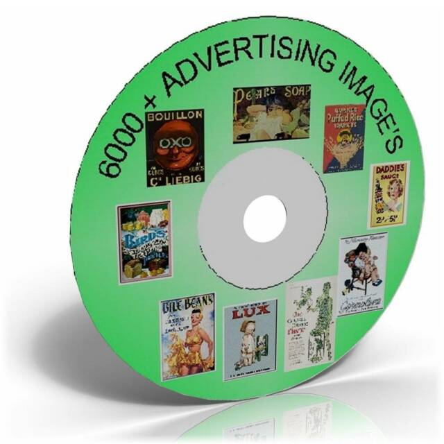 6000 Vintage Advertising Images on CD Cardmaking, Historic picture collection