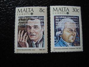 Malta-Stamp-Yvert-and-Tellier-Europa-N-707-708-N-Stamp-Malta