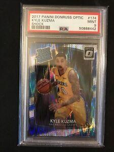 2017-18 Donruss Optic Kyle Kuzma Rated Rookie Shock PSA 9 Los Angeles Lakers QTY