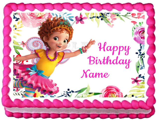 Magnificent Fancy Nancy Edible Cake Image Birthday Party For Sale Online Ebay Funny Birthday Cards Online Overcheapnameinfo