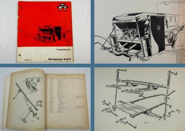 Ersatzteilkatalog Massey Ferguson MF658S Strohpresse Ersatzteilliste 1965