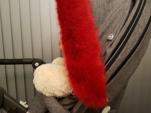 Luxury Pram Fur Hood Furs Trim Baby Pram Buggy Pushchair Parts Universal Fit