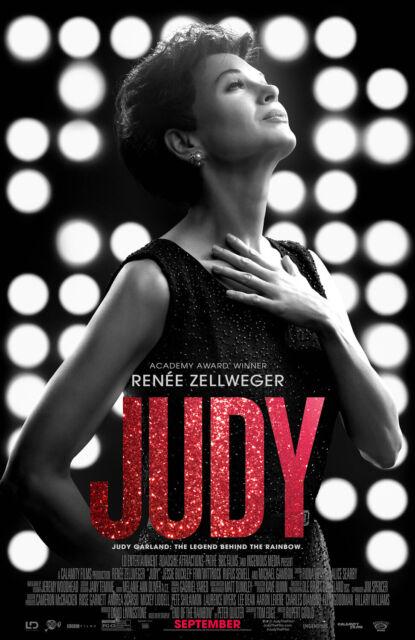 JUDY 2019 movie 12x18 VINYL poster Renée Zellweger