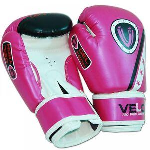 VELO-Boxing-Gloves-Kids-4oz-Sparring-Punch-Bag-MMA-Kickboxing-Muay-Thai