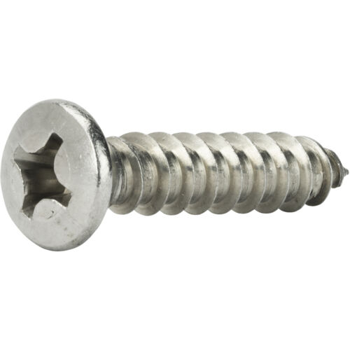 """#8 x 2 /"""" Self Tapping Sheet Metal Screws Oval Head Stainless Steel Qty 25"""