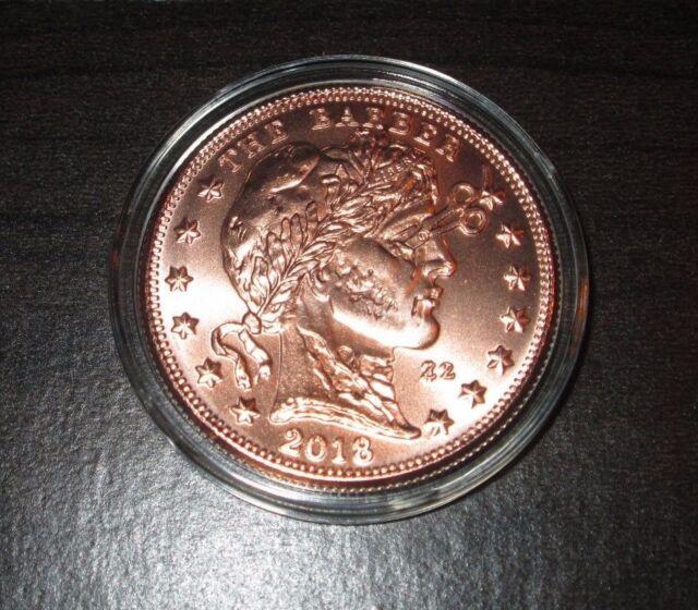 The Barber 1 oz Copper Round .999 Fine With Airtite ZOMBUCKS Series