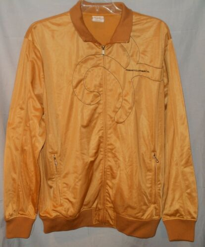 NEW  MENS KONVICT BRIGHT GOLD SIZE XXL LIGHT WEIGHT JACKET WITH FULL ZIPPER NWOT