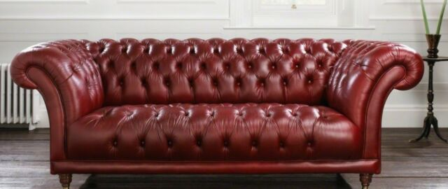 Chesterfield Couch Pads Sofa Xxl Big Sofas 3 Seat Textile Leather Winchester N