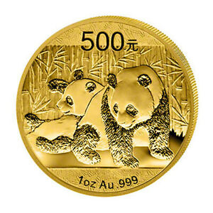 1 oz Gold - Panda - China - verschiedene Jahrgänge - Stempelglanz