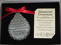 Memorial Ornament God Saw Him Getting Tired Teardrop Christmas Dad Grandpa Broth